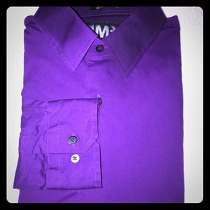 Express Modern Fit Purple Dress Shirt